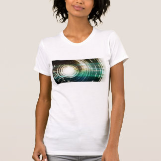 Futuristic Technology Portal with Digital T-Shirt