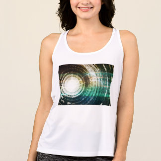 Futuristic Technology Portal with Digital Tank Top