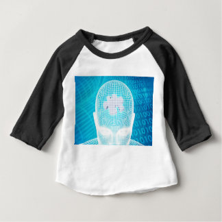 Futuristic Technology with Human Brain Chip Baby T-Shirt