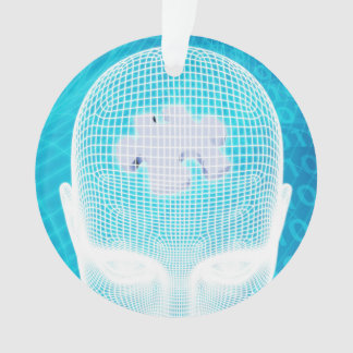 Futuristic Technology with Human Brain Chip Ornament