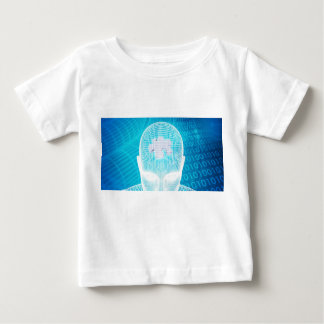 Futuristic Technology with Human Brain Chip Soluti Baby T-Shirt