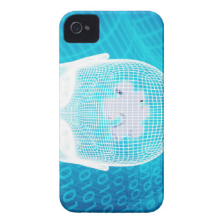 Futuristic Technology with Human Brain Chip Soluti iPhone 4 Cover