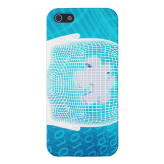 Futuristic Technology with Human Brain Chip Soluti iPhone 5/5S Case