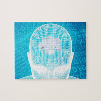 Futuristic Technology with Human Brain Chip Soluti Jigsaw Puzzle