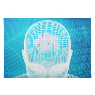 Futuristic Technology with Human Brain Chip Soluti Placemat