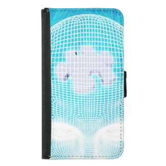 Futuristic Technology with Human Brain Chip Soluti Samsung Galaxy S5 Wallet Case