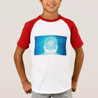 Futuristic Technology with Human Brain Chip Soluti T-Shirt