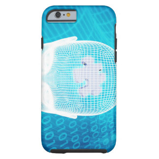 Futuristic Technology with Human Brain Chip Soluti Tough iPhone 6 Case