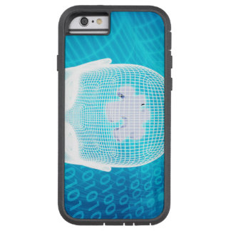 Futuristic Technology with Human Brain Chip Soluti Tough Xtreme iPhone 6 Case