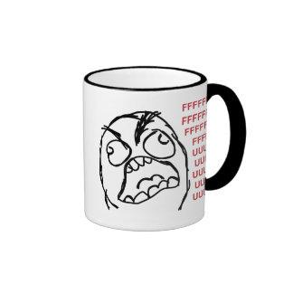 Fuuuu de fuuu de type de rage tasse à café