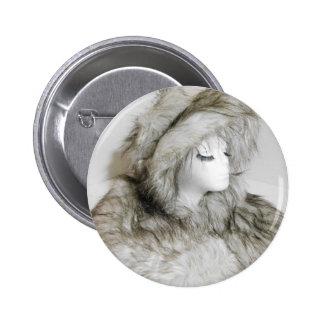 Fuwa fuwa fur hat girl 2017 2 inch round button
