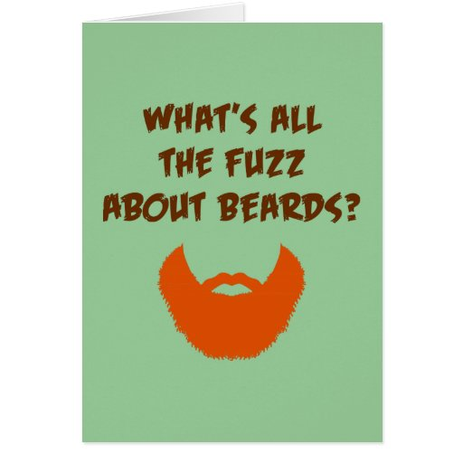 Fuzz About Beards Card