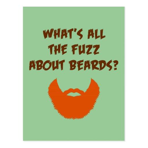 Fuzz About Beards Postcards