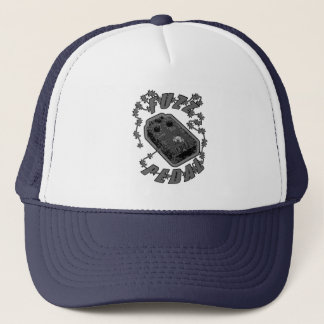 FUZZ Pedal -Electric Grey Black Trucker Hat