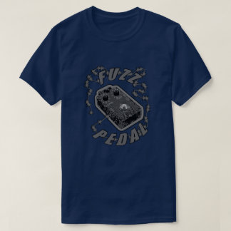 Fuzz Pedal - Electric Shock Grey/Black T-Shirt