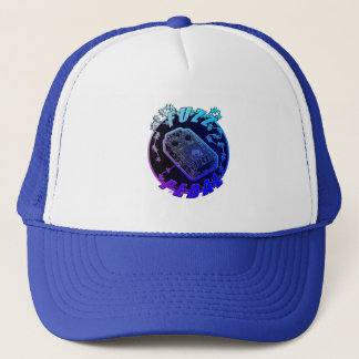 FUZZ Pedal -Electric Shock Multi-Color Blue Purple Trucker Hat