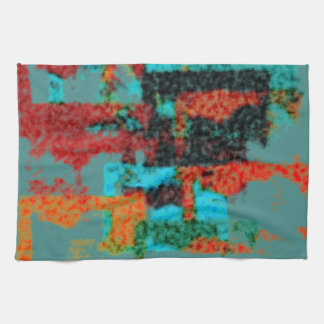 Fuzzy Abstract Pattern Kitchen Towel