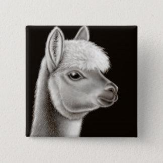 Fuzzy Alpaca Face Pin