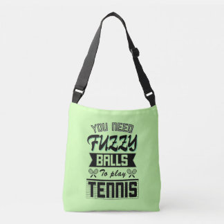 FUZZY BALLS for TENNIS (Blk) Crossbody Bag