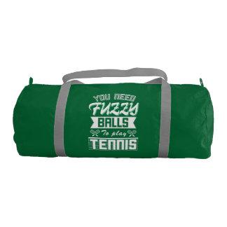 FUZZY BALLS for TENNIS (Wht) Gym Bag