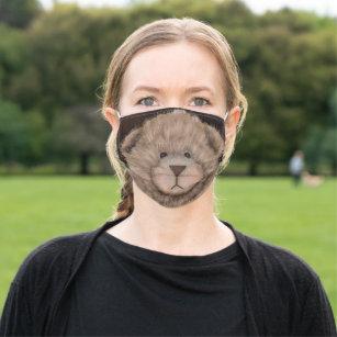 Fuzzy Bear Cloth Face Mask