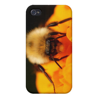 Fuzzy Bumble Bee iPhone 4 Covers