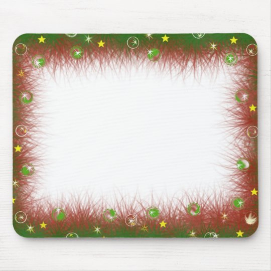 Fuzzy Christmas Border Mouse Pad