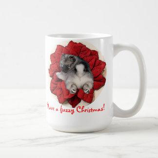 Fuzzy Christmas mug