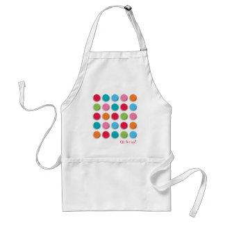 Fuzzy Color Dots Fun Colorful Custom / Gift Apron