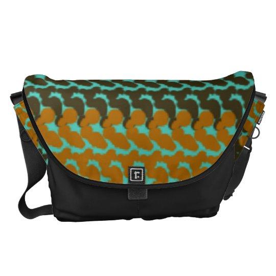 Fuzzy colours commuter bags