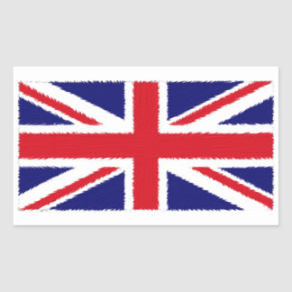 Fuzzy Edge Painted Union Jack Flag Sticker