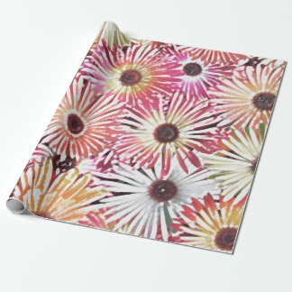 Fuzzy Florals Wrapping Paper