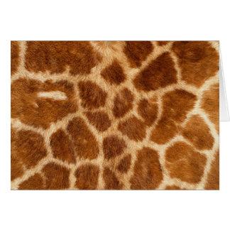 Fuzzy Giraffe Fur Pattern Card