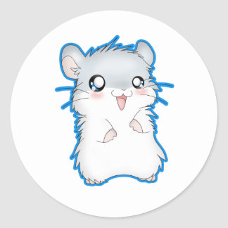 Fuzzy Hamster Classic Round Sticker