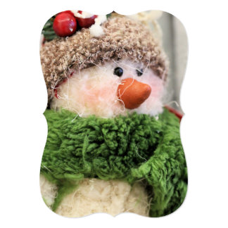 Fuzzy the snowman card