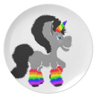 Fuzzy Unicorn Plate