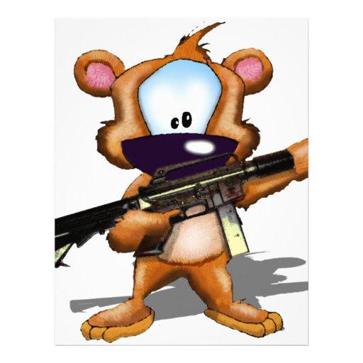 Fuzzy With A gun (assault rifle) Customized Letterhead