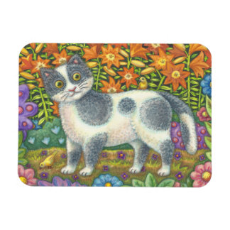 Fuzzy Wuzzy Kitten FOLK ART CAT MAGNET *Customize