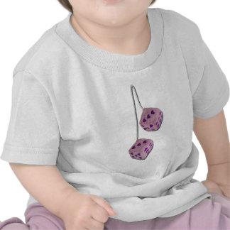 FuzzyPinkHeartDice073011 T-shirts