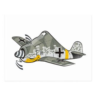 fw-190 focke wolf postcard
