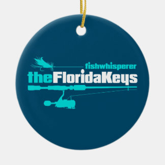 fw Florida Keys Round Ceramic Ornament
