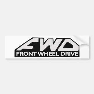 FWD Front Wheel Drive Bumper Sticker