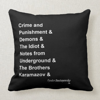 Fyodor Dostoyevsky Throw Pillow