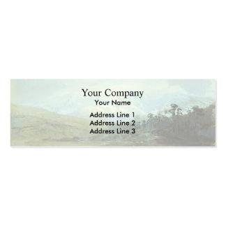 Fyodor Vasilyev- Mountains in the Crimea in Winter Business Card Template