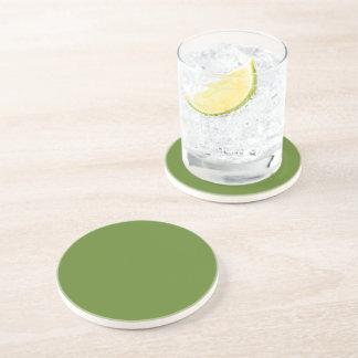 G15 Graciously Social Green Color Coaster