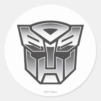 G1 Autobot Shield BW Round Sticker