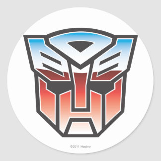 G1 Autobot Shield Color Classic Round Sticker