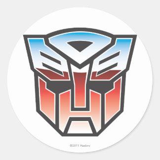 G1 Autobot Shield Color Round Sticker