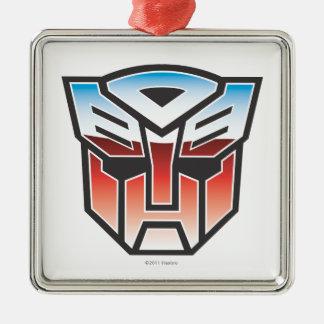 G1 Autobot Shield Color Silver-Colored Square Ornament