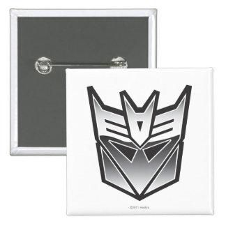 G1 Decepticon Shield BW 2 Inch Square Button